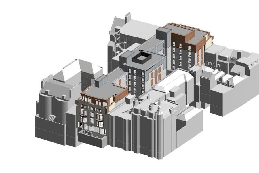 Rokeby Developments 78 West Street Brighton Axonometric Projection