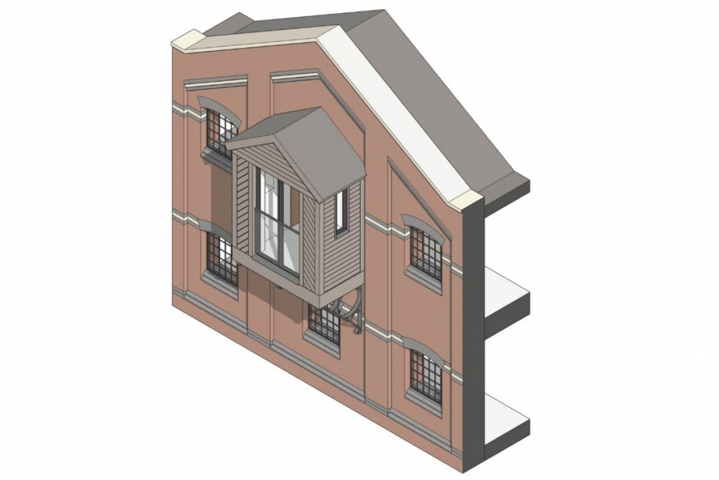 Bakers Quay Downings Malthouse drawing showing retained features